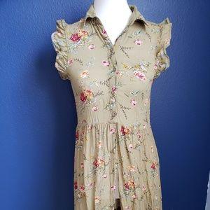 Hi Lo Button Down Shirt Dress
